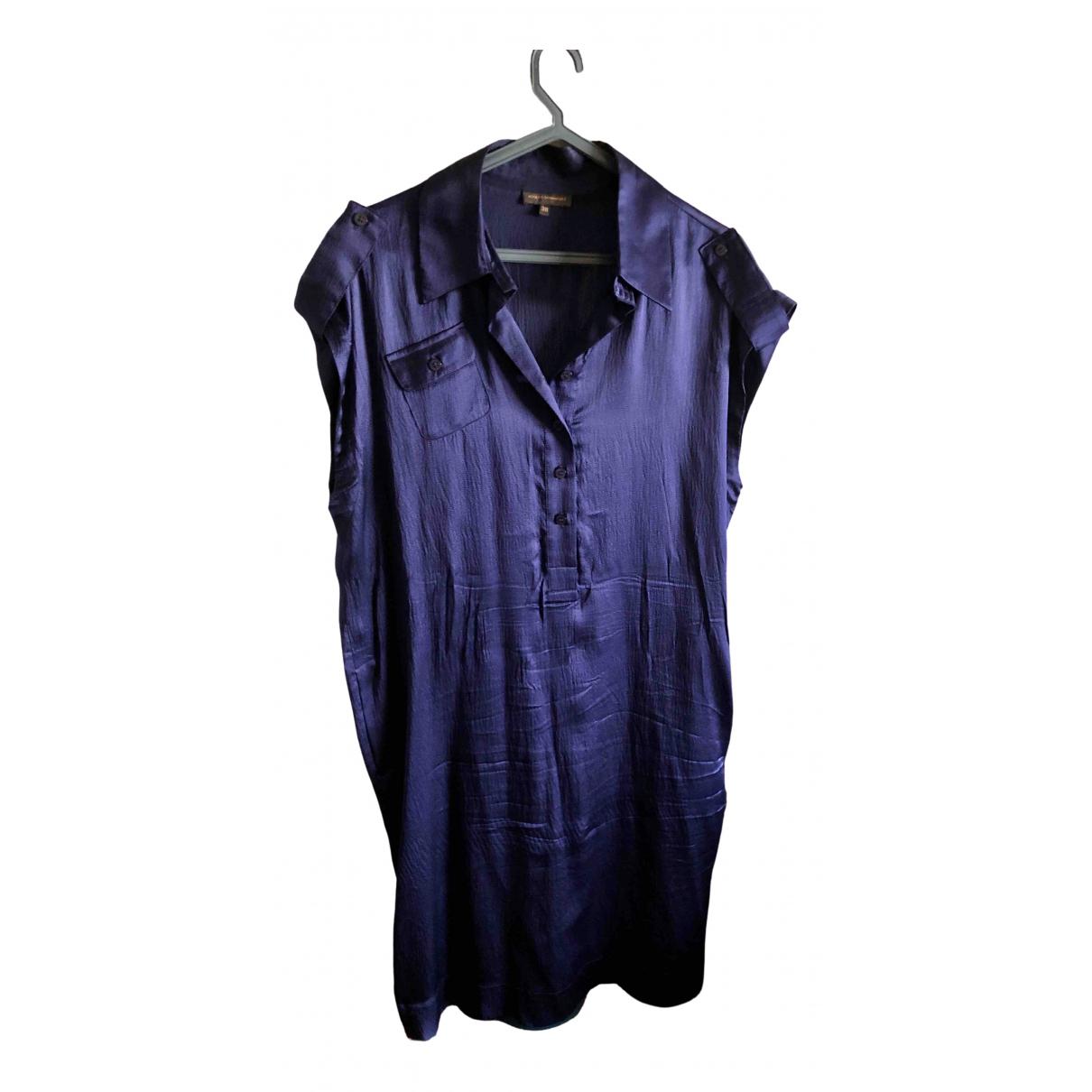 Adolfo Dominguez \N Kleid in  Blau Seide