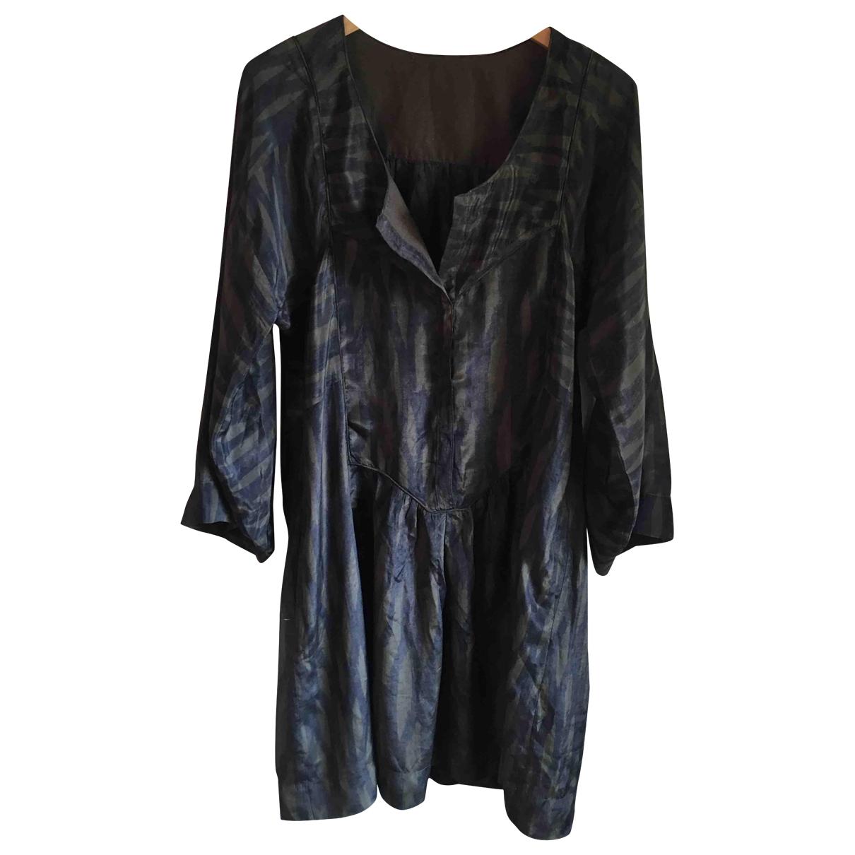 Isabel Marant \N Kleid in  Khaki Seide