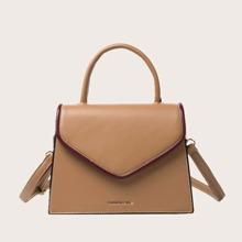 Top Handle Flap Satchel Bag