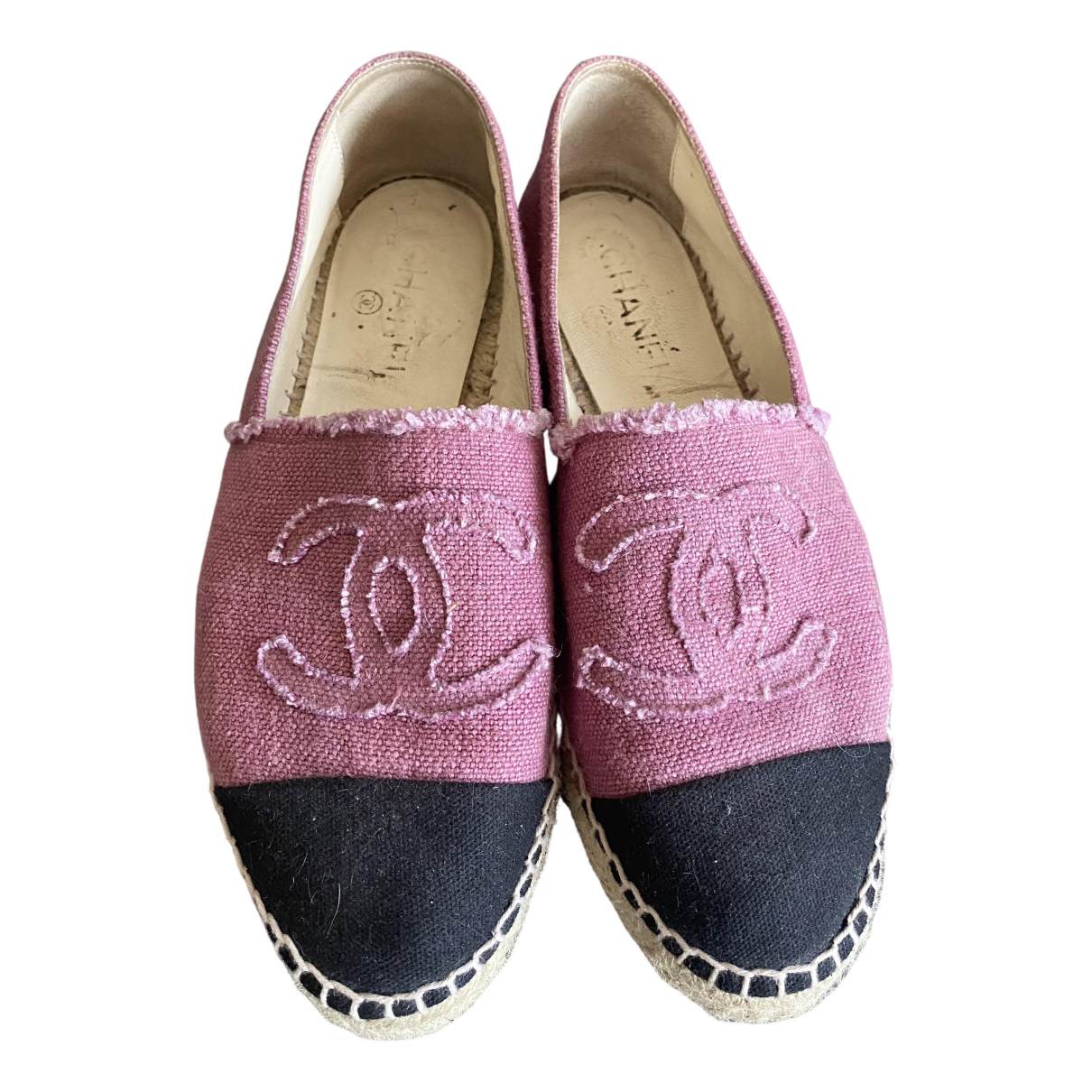 Chanel \N Pink Cloth Espadrilles for Women 39 EU