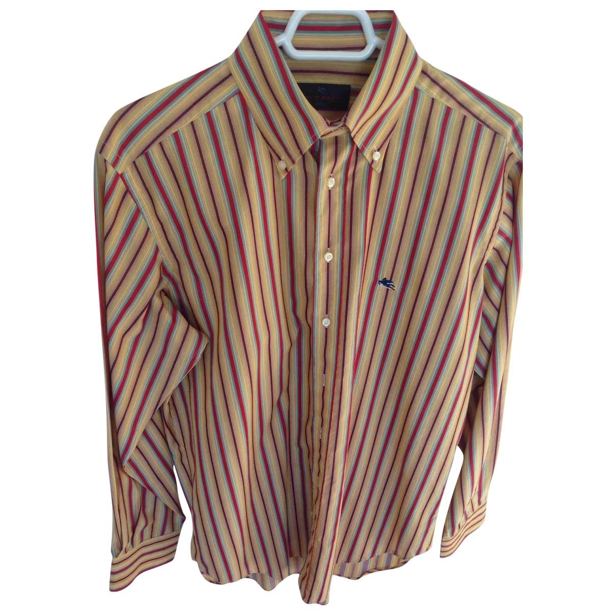 Etro \N Cotton Shirts for Men 41 EU (tour de cou / collar)