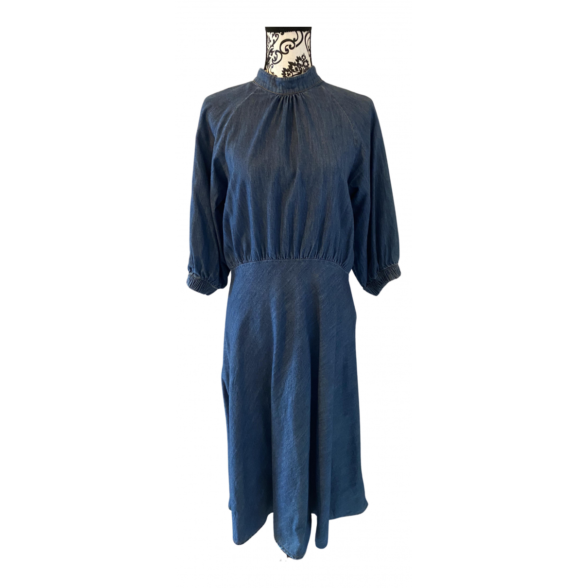 Closed - Robe   pour femme en coton - bleu