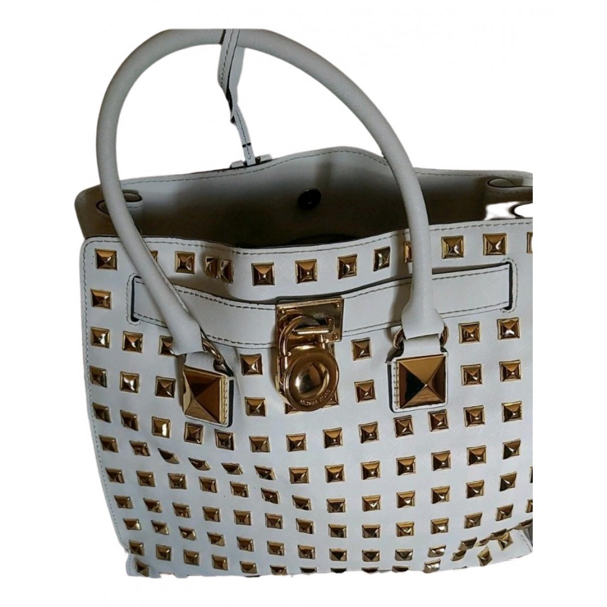 Michael Kors Hamilton White Leather handbag for Women \N