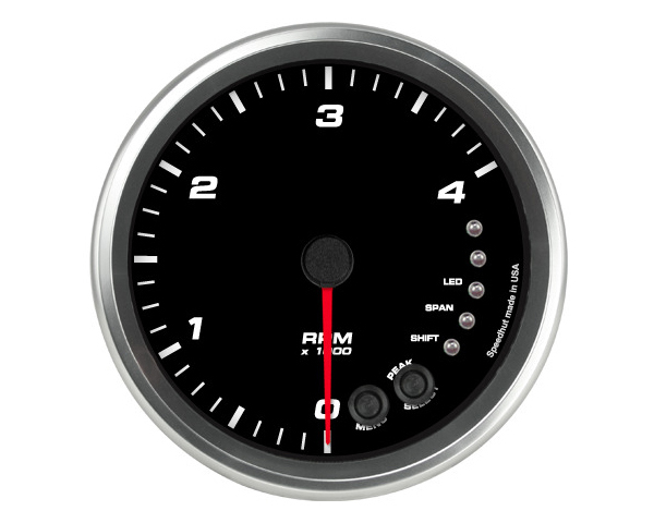 SpeedHut GR4.5-TACH-04-DM Tachometer Gauge 4K RPM Shift-light Dash Mount