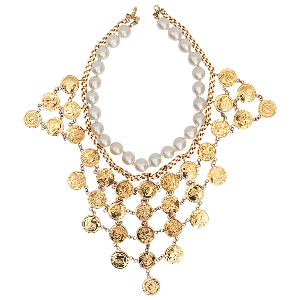 Chanel CC Gold Metal necklace for Women N