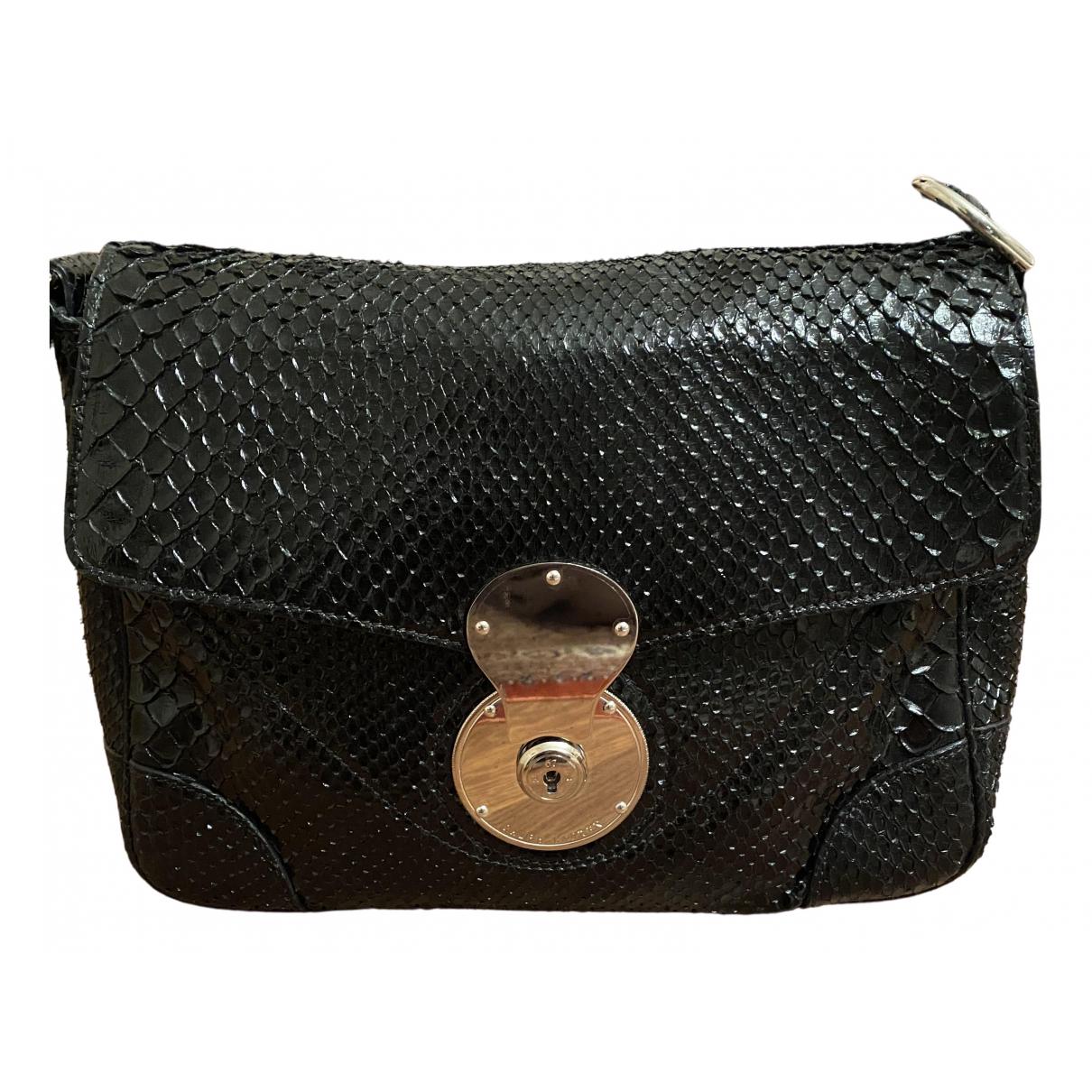 Ralph Lauren \N Handtasche in  Schwarz Echse