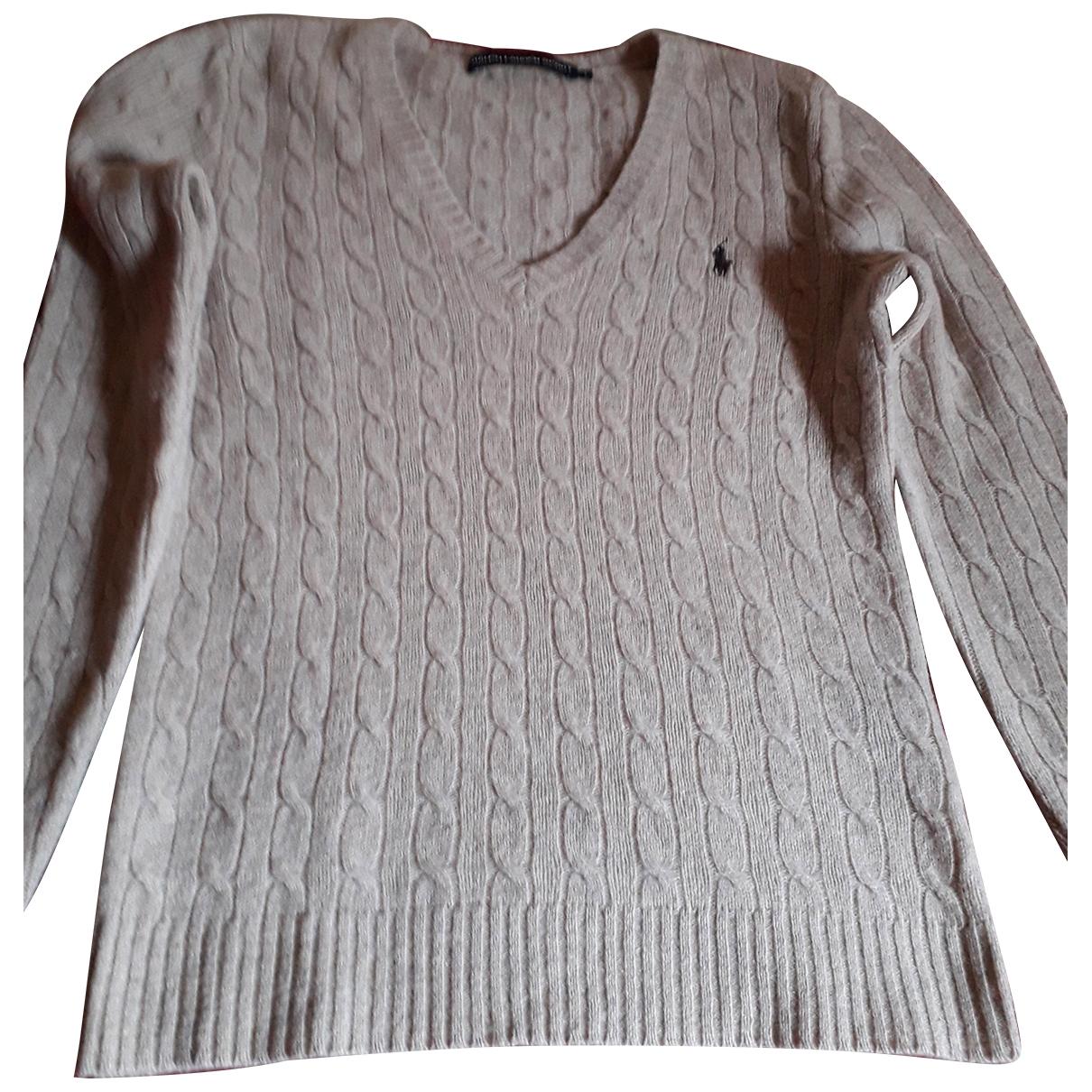 Ralph Lauren - Pull   pour femme en laine - camel