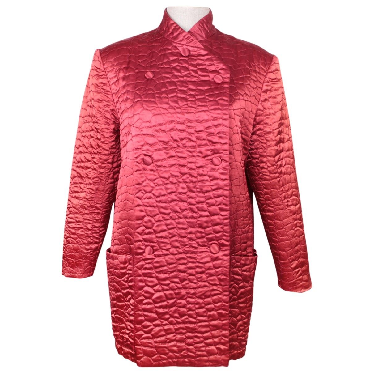 - Veste Epaulettes pour femme en soie - rouge