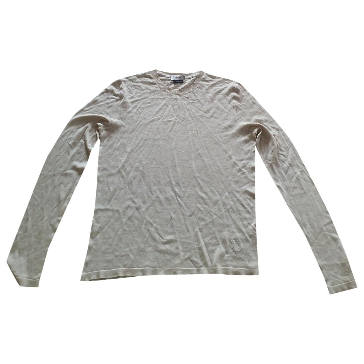 Versace - Pull   pour femme en soie - beige