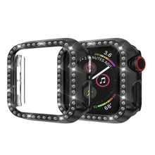 Rhinestone Engraved iWatch Case
