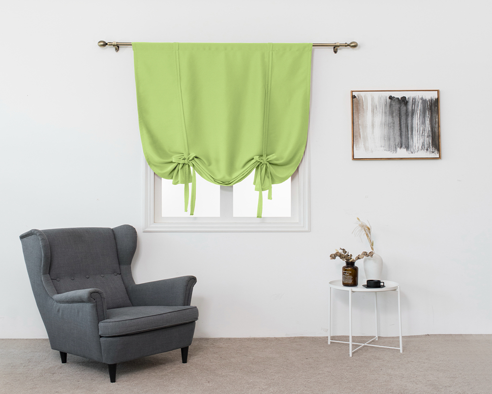 Plain Style Pure Color Shade Different Length Window Shade