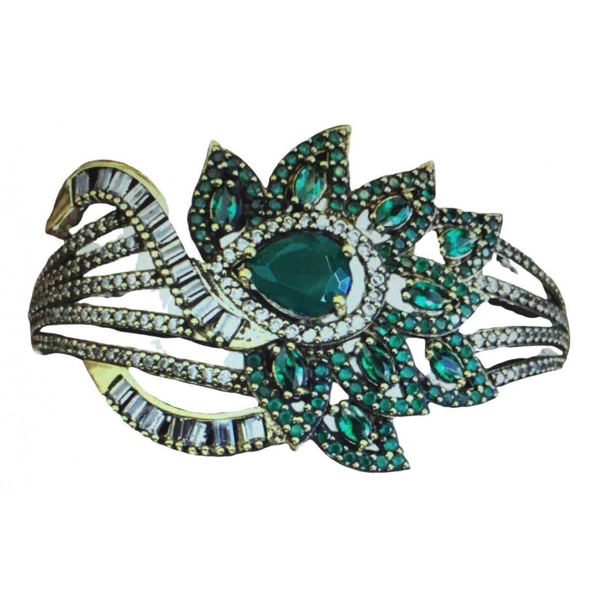 - Bracelet Emeraude pour femme en argent - vert