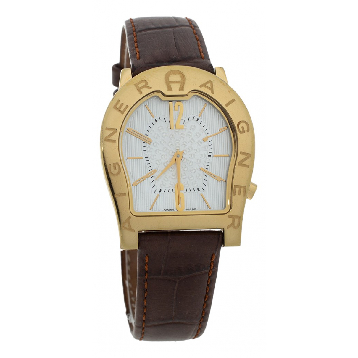 Aigner N Brown Yellow gold watch for Women N