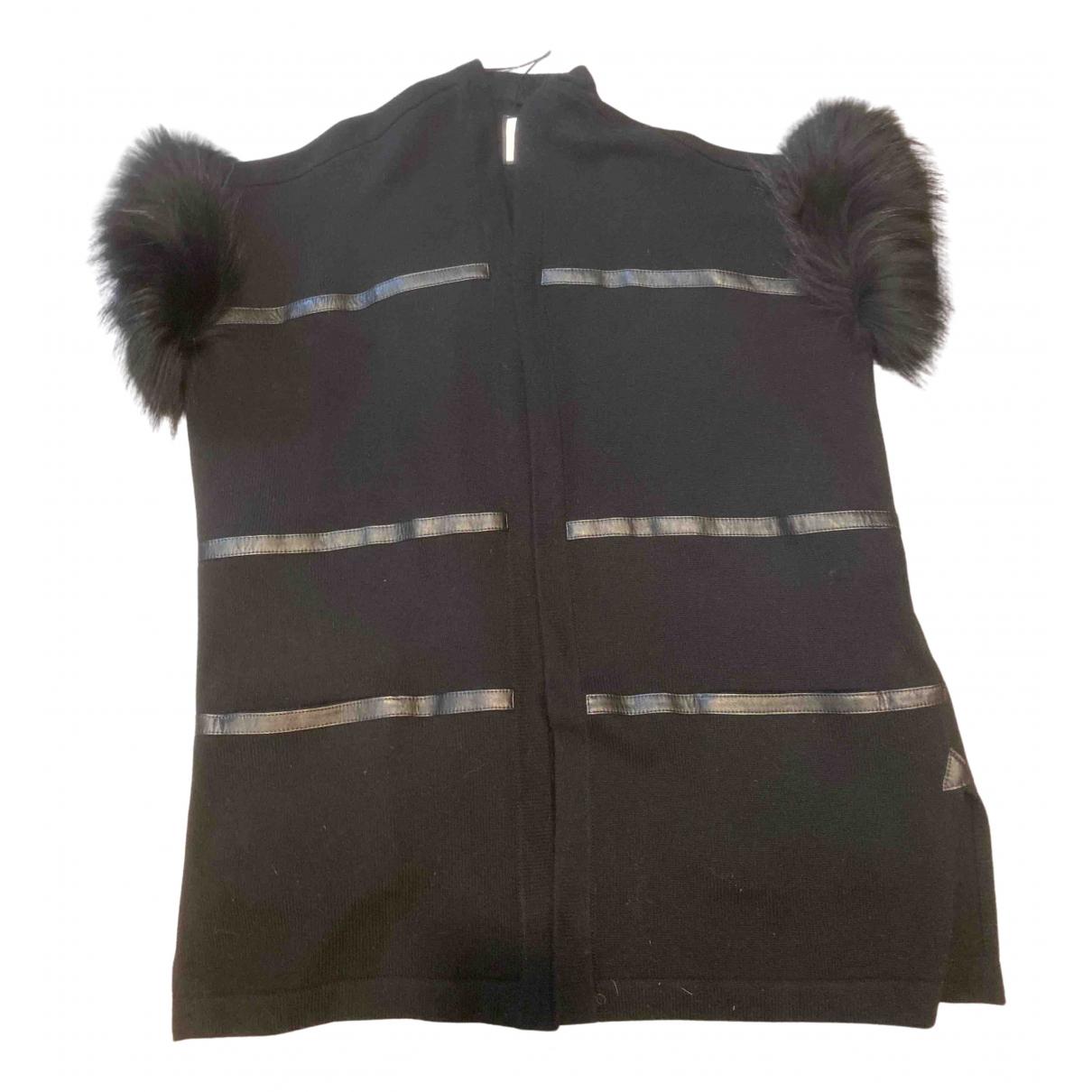 Max & Moi - Manteau   pour femme en laine - noir