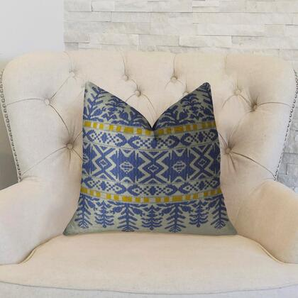 Splendid Aztec Collection PBRAZ071-1616-DP Double sided  16 x 16 Plutus Splendid Aztec Blue and White Handmade Luxury