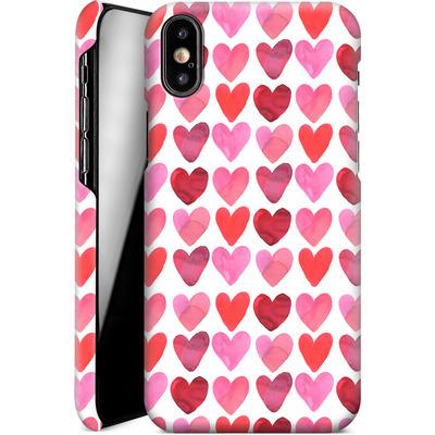 Apple iPhone XS Smartphone Huelle - Heart Watercolour von Amy Sia