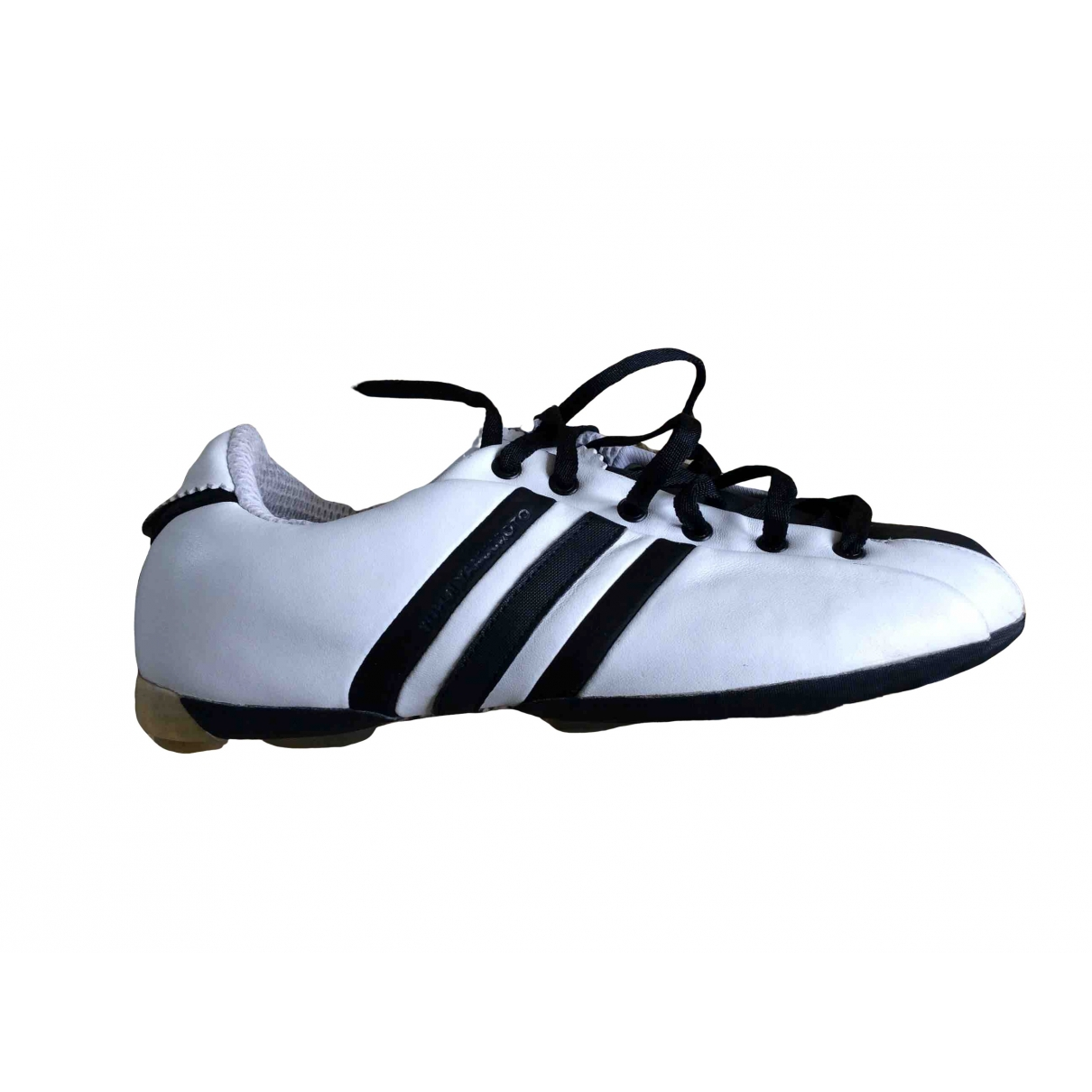 Y-3 \N White Leather Trainers for Women 4 UK