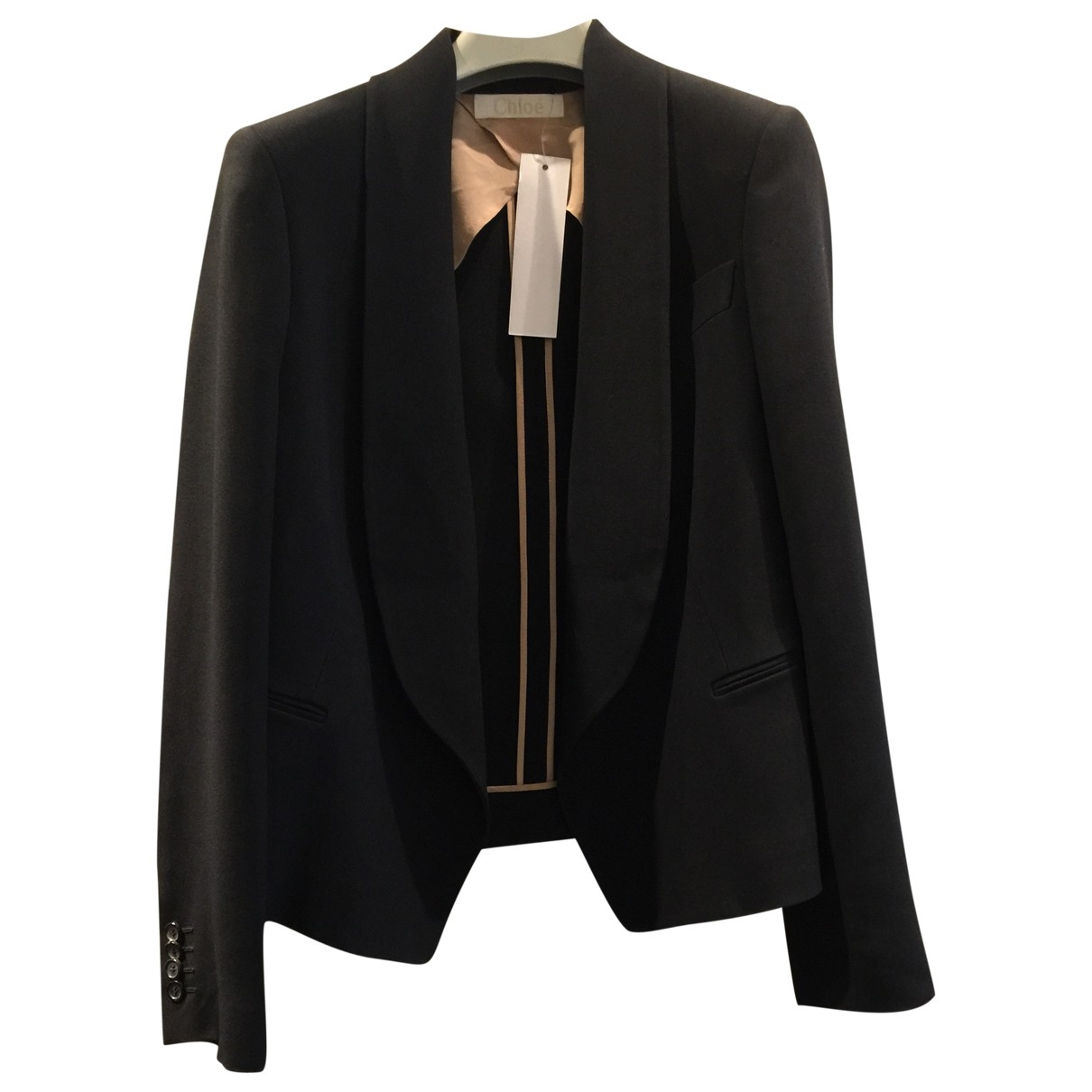 Chloé \N Black Wool jacket for Women 36 IT
