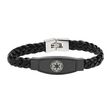 Star Wars Imperial Crest Mens Stainless Steel Bracelet, One Size , No Color Family