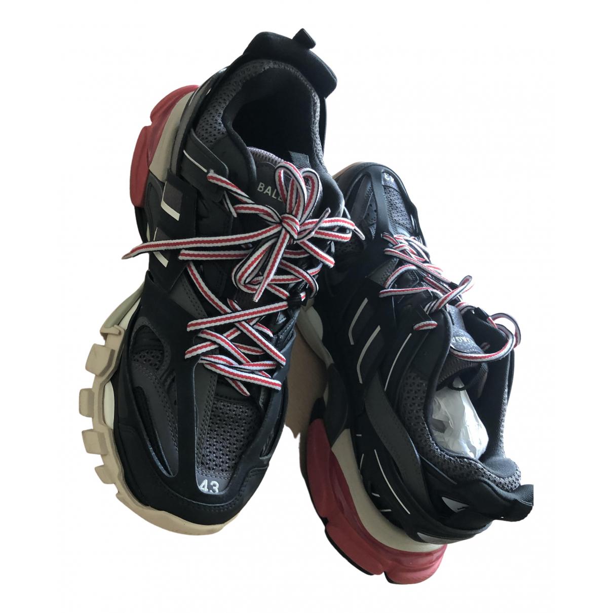 Balenciaga - Baskets Track pour homme en cuir - gris