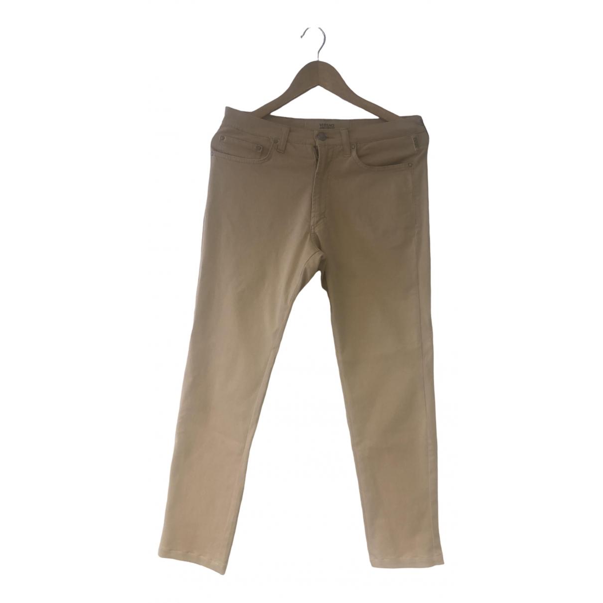 Versace Jeans \N Beige Cotton Trousers for Men 46 IT