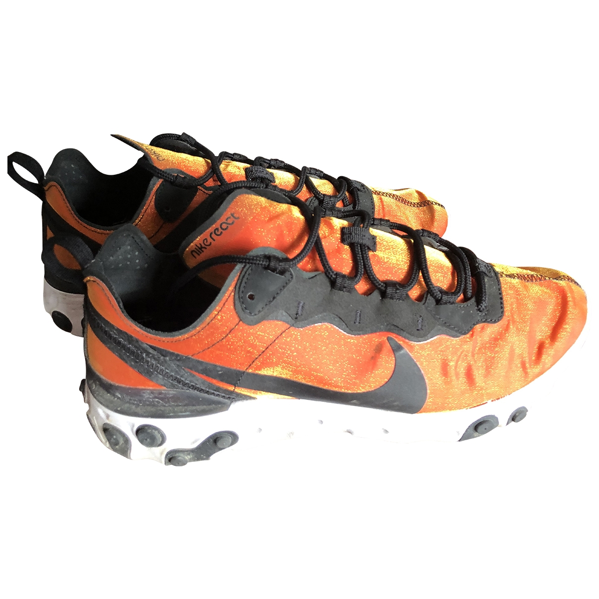 Nike React element 55 Orange Cloth Trainers for Men 42.5 IT