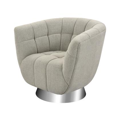 1204-100 Patrol Chair  In Grey Linen And Stainless