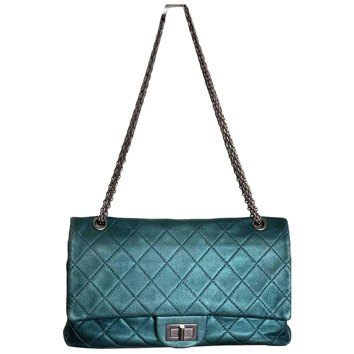 Chanel - Sac a main 2.55 pour femme en cuir - turquoise