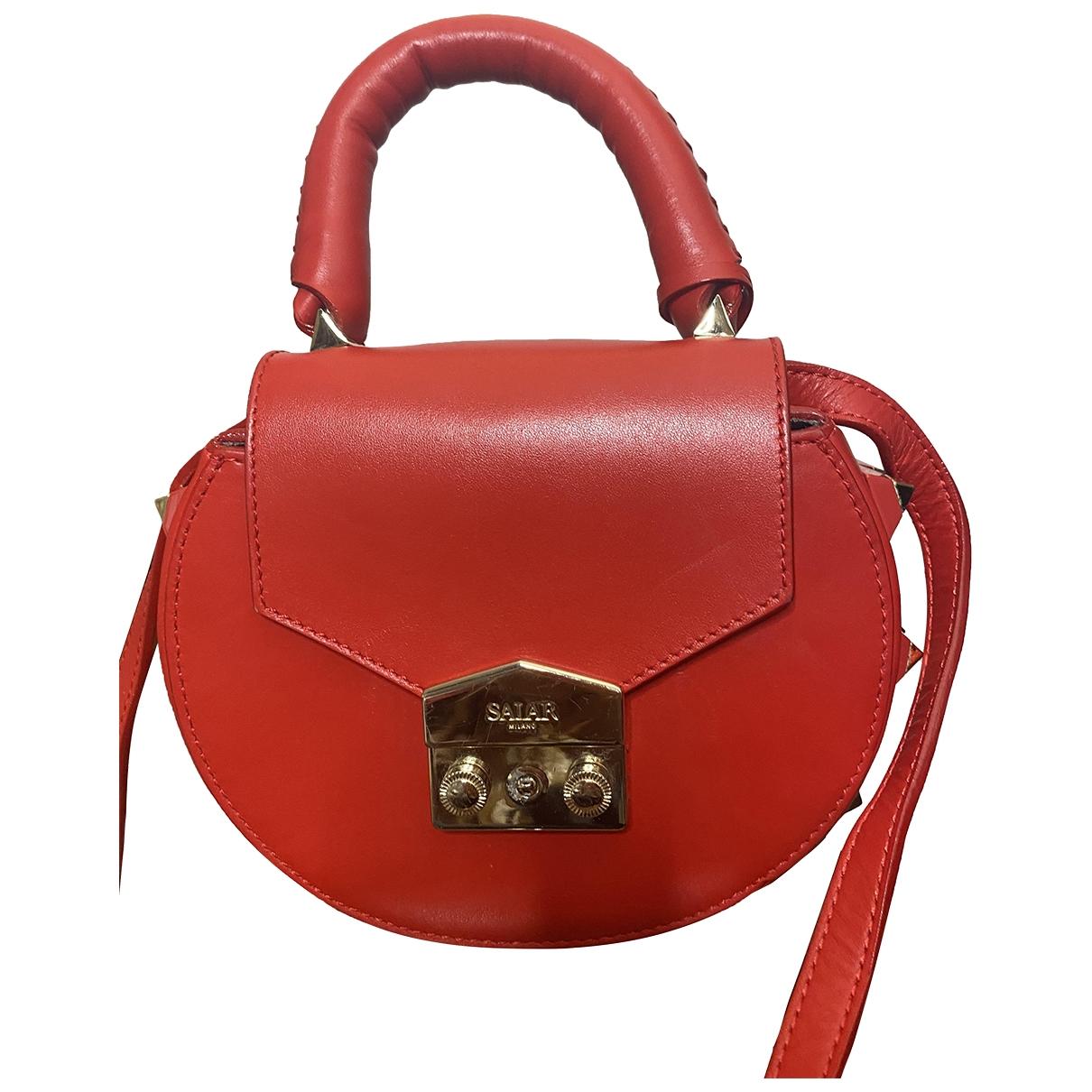 Salar \N Handtasche in  Rot Leder