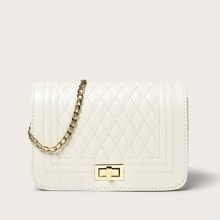Quilted Chain Crossbody Bag