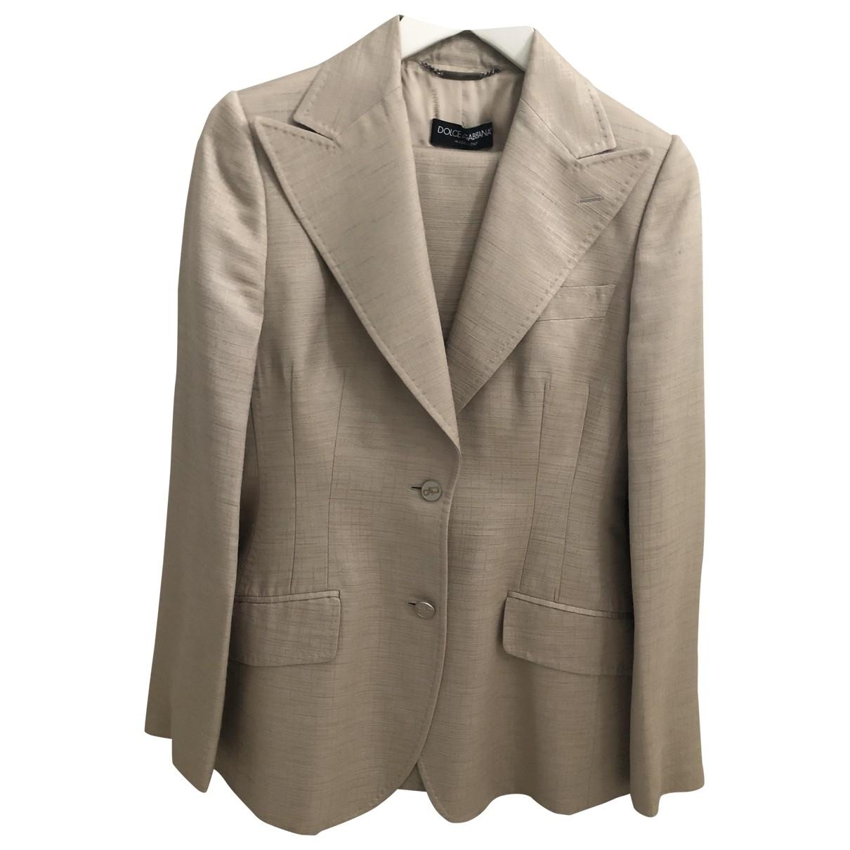 Dolce & Gabbana \N Beige Silk jacket for Women 44 IT