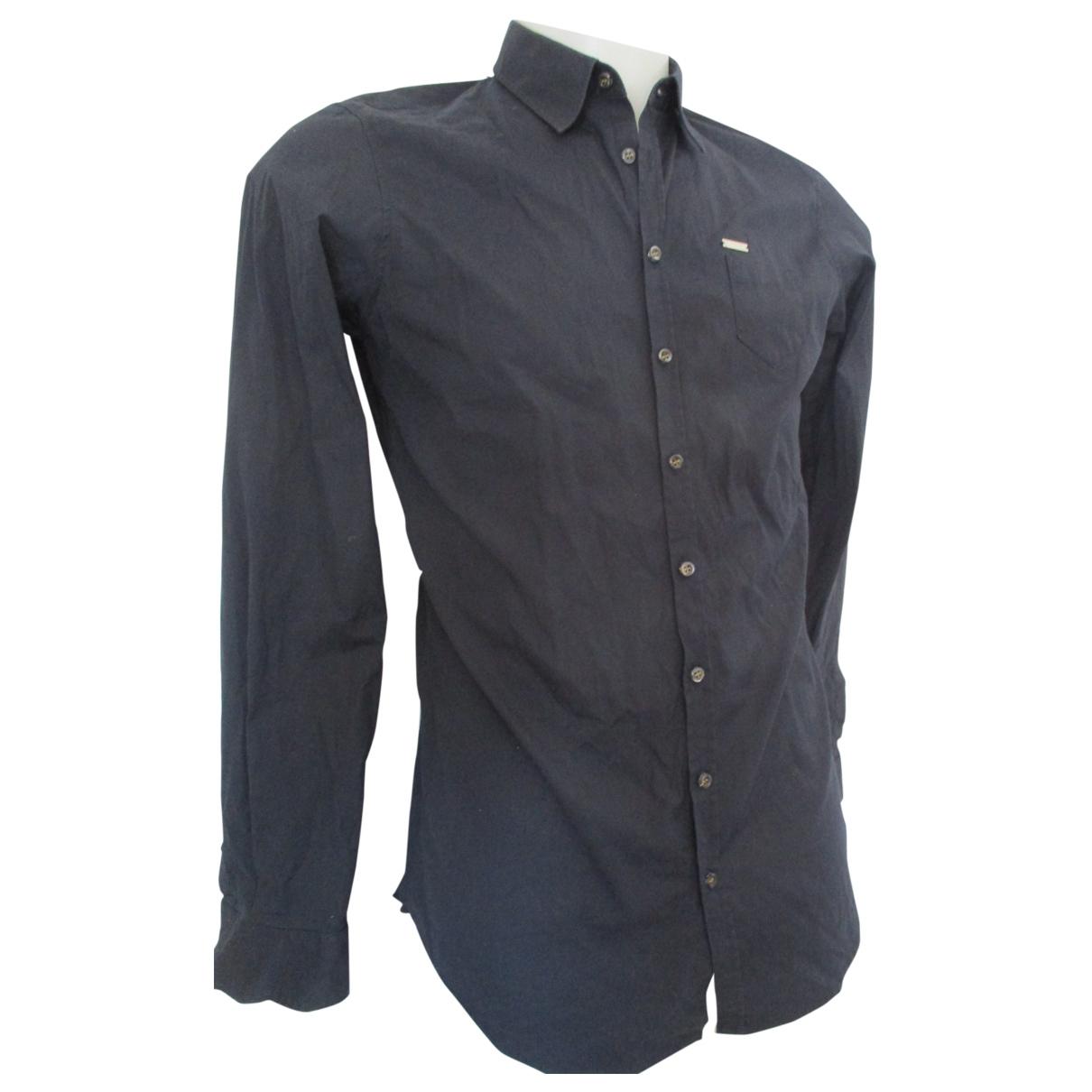 Dsquared2 \N Black Cotton Shirts for Men M International