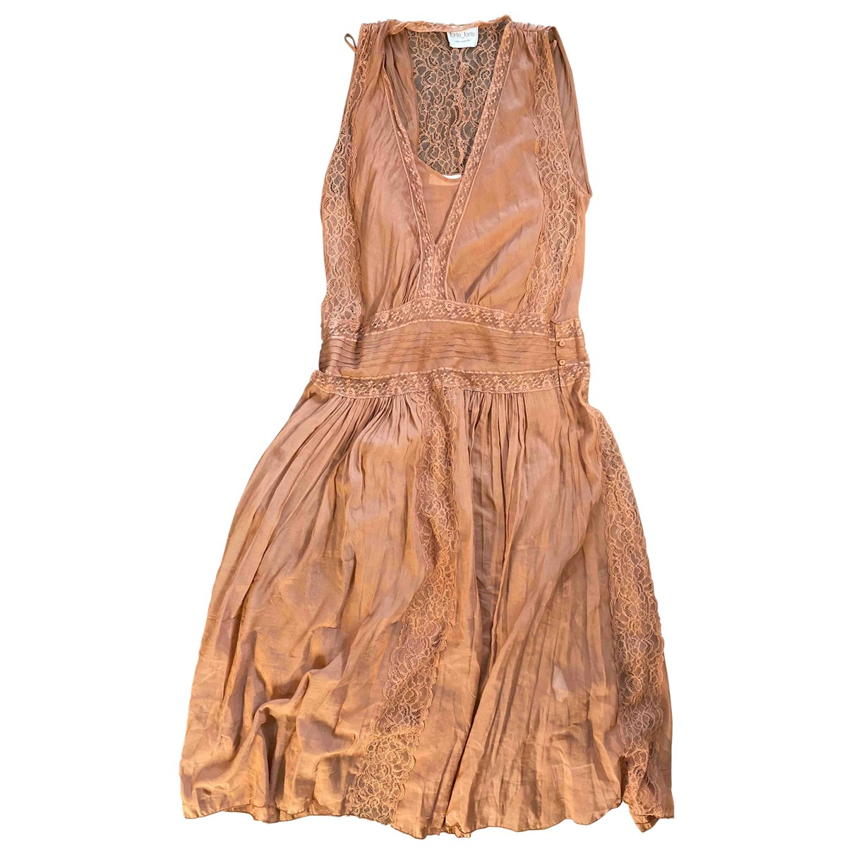 Forte_forte - Robe   pour femme en coton - rose
