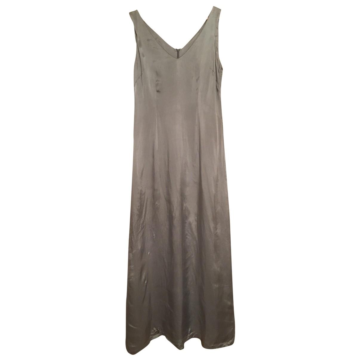 Dries Van Noten \N Kleid in  Silber Viskose