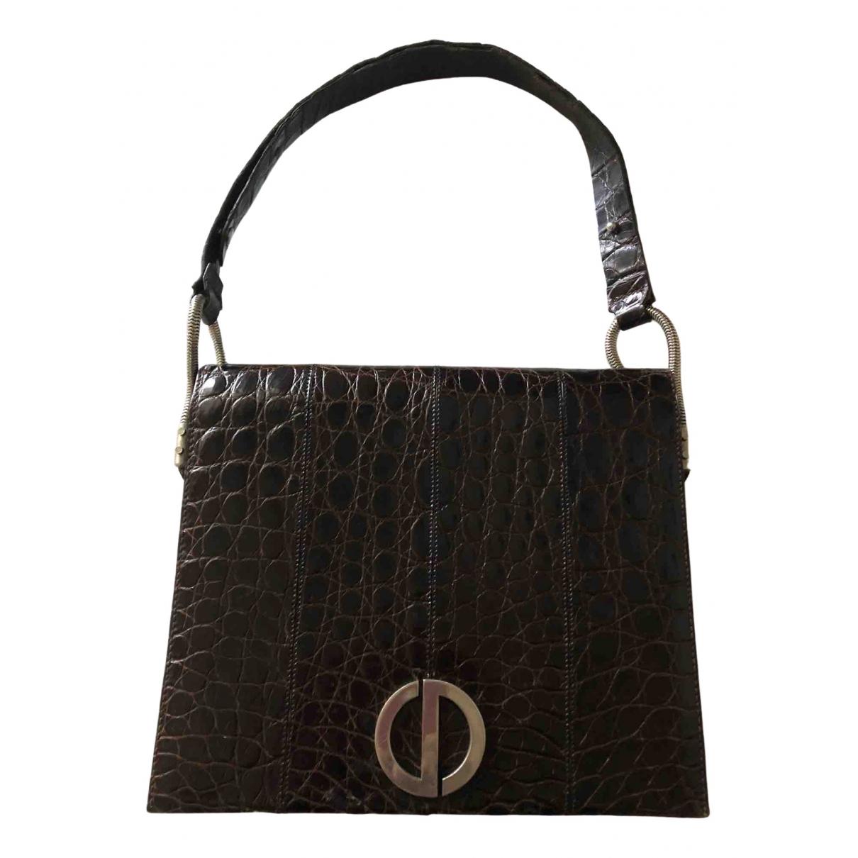 Dior \N Brown Crocodile handbag for Women \N