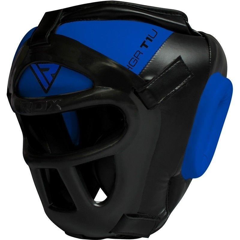 RDX T1 Combox Grille Casque Moyenne  Bleu Cuir PU
