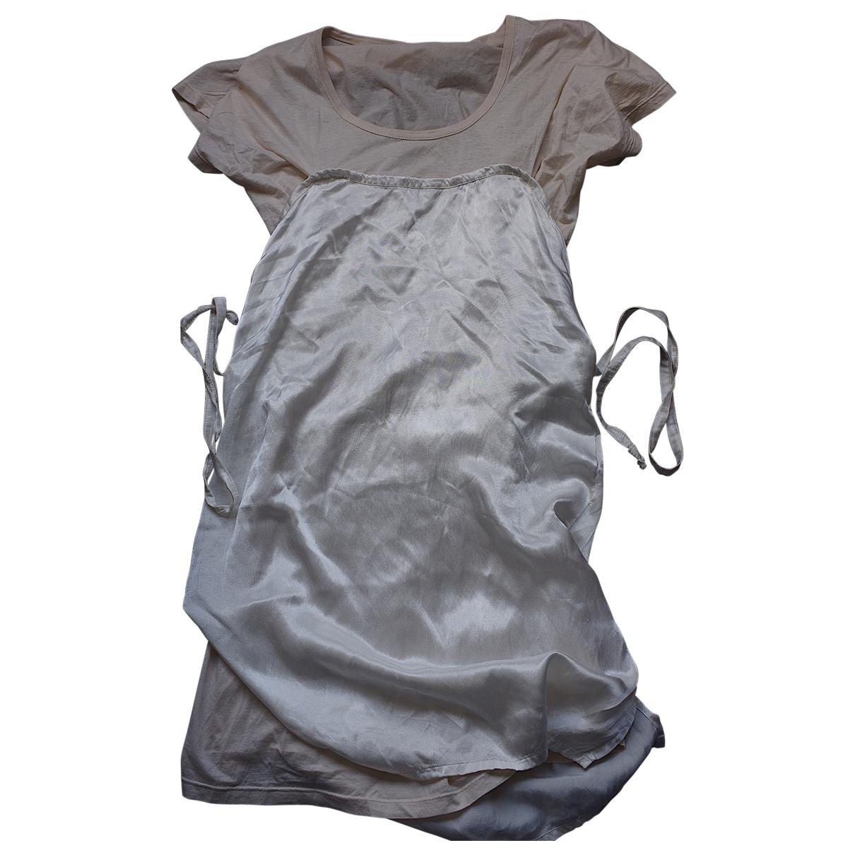 Mm6 - Robe   pour femme en coton - blanc