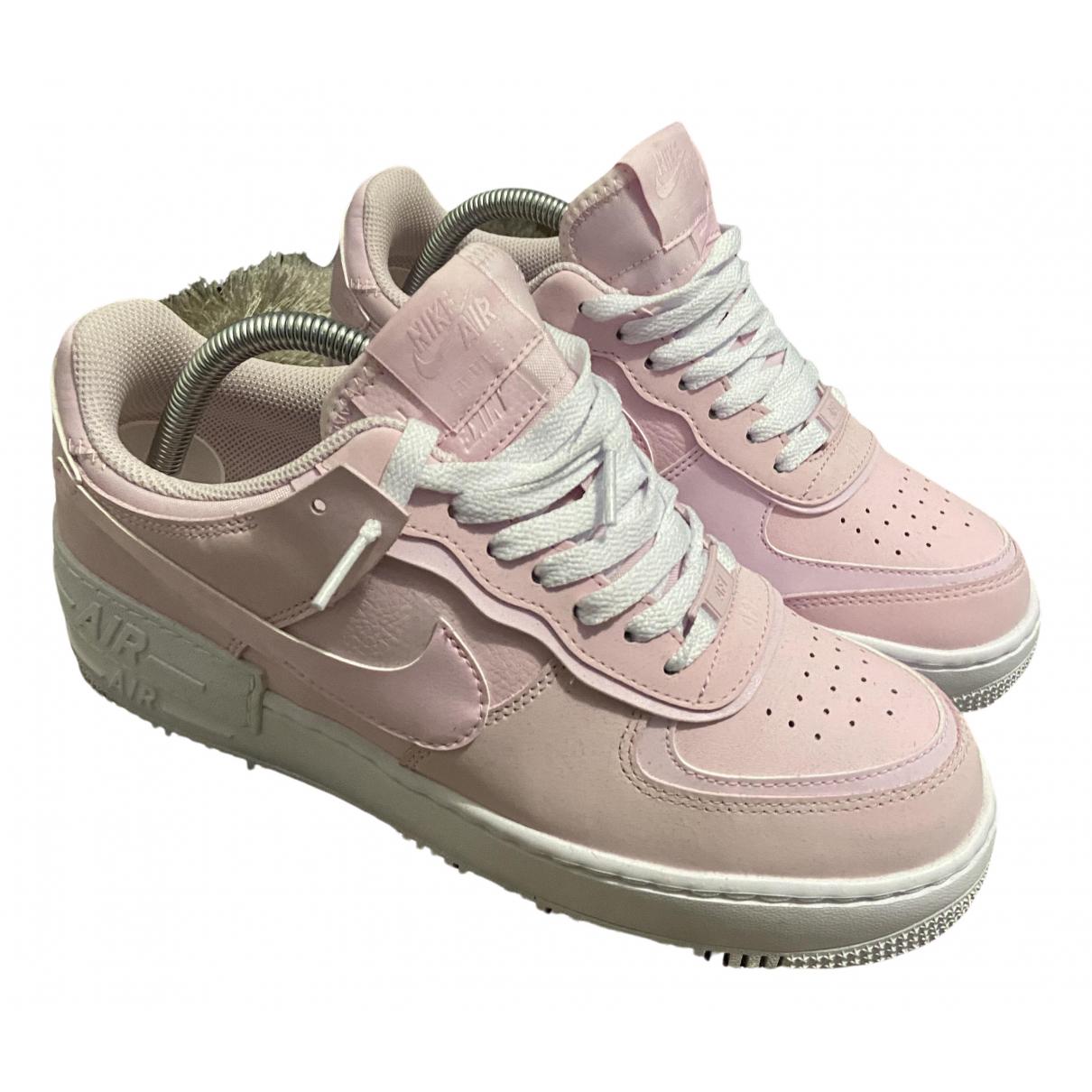 Nike - Baskets Air Force 1 pour femme en toile - rose