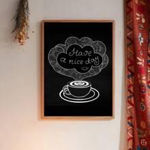 Wandmalerei mit Kaffeetasse Muster ohne Rahmen