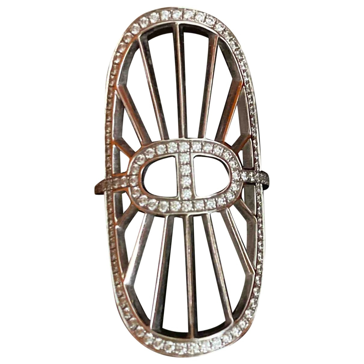 Hermes \N Ring in  Weiss Weissgold