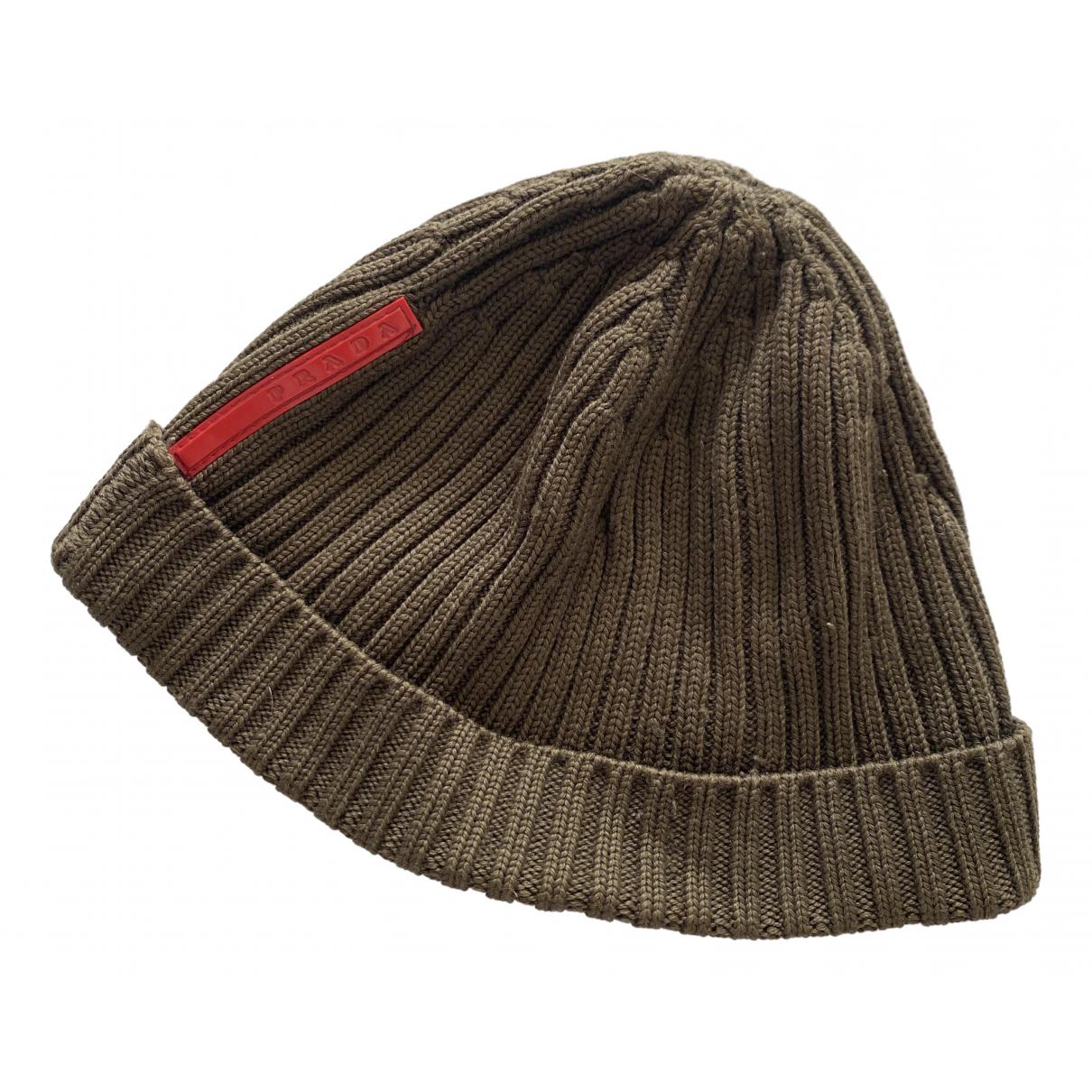 Prada - Chapeau & Bonnets   pour homme en laine - kaki