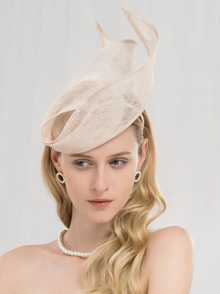 Milanoo Retro Headdress Women Linen Champagne Headband Hair Accessories Halloween