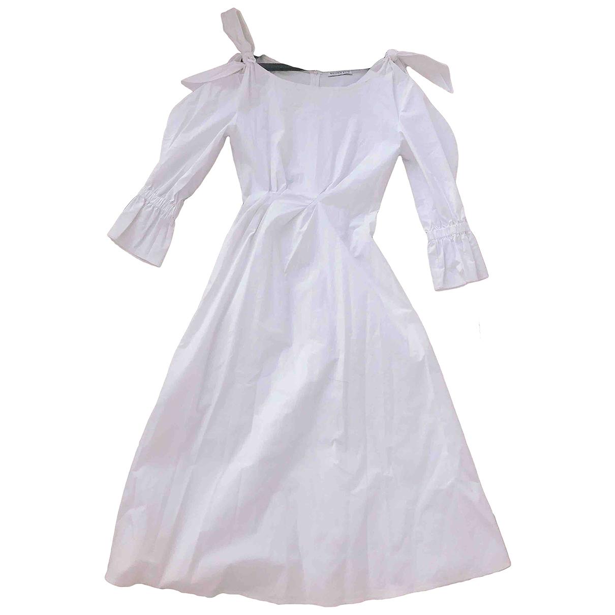 Rejina Pyo \N Kleid in  Weiss Baumwolle