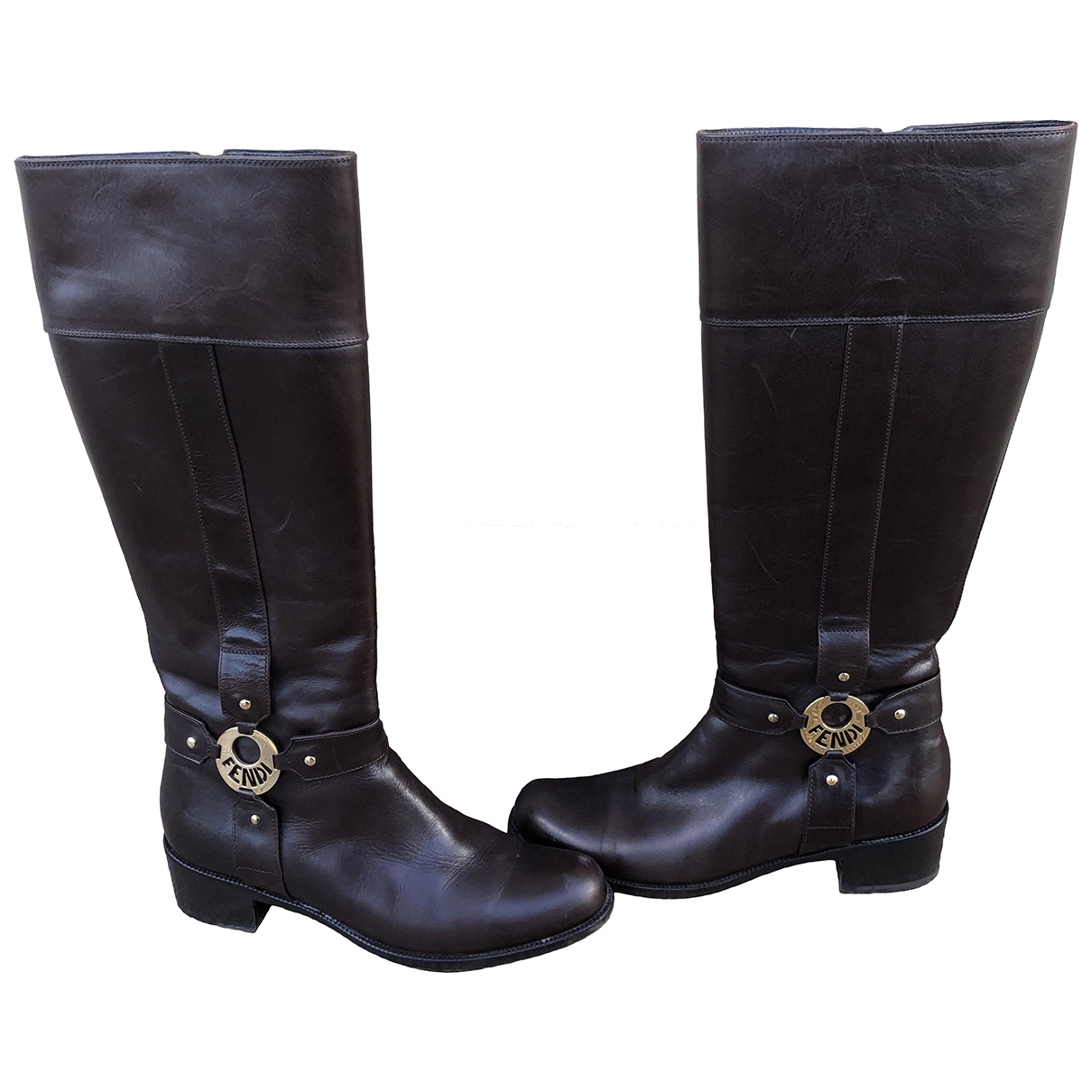 Fendi \N Brown Leather Boots for Women 39 EU