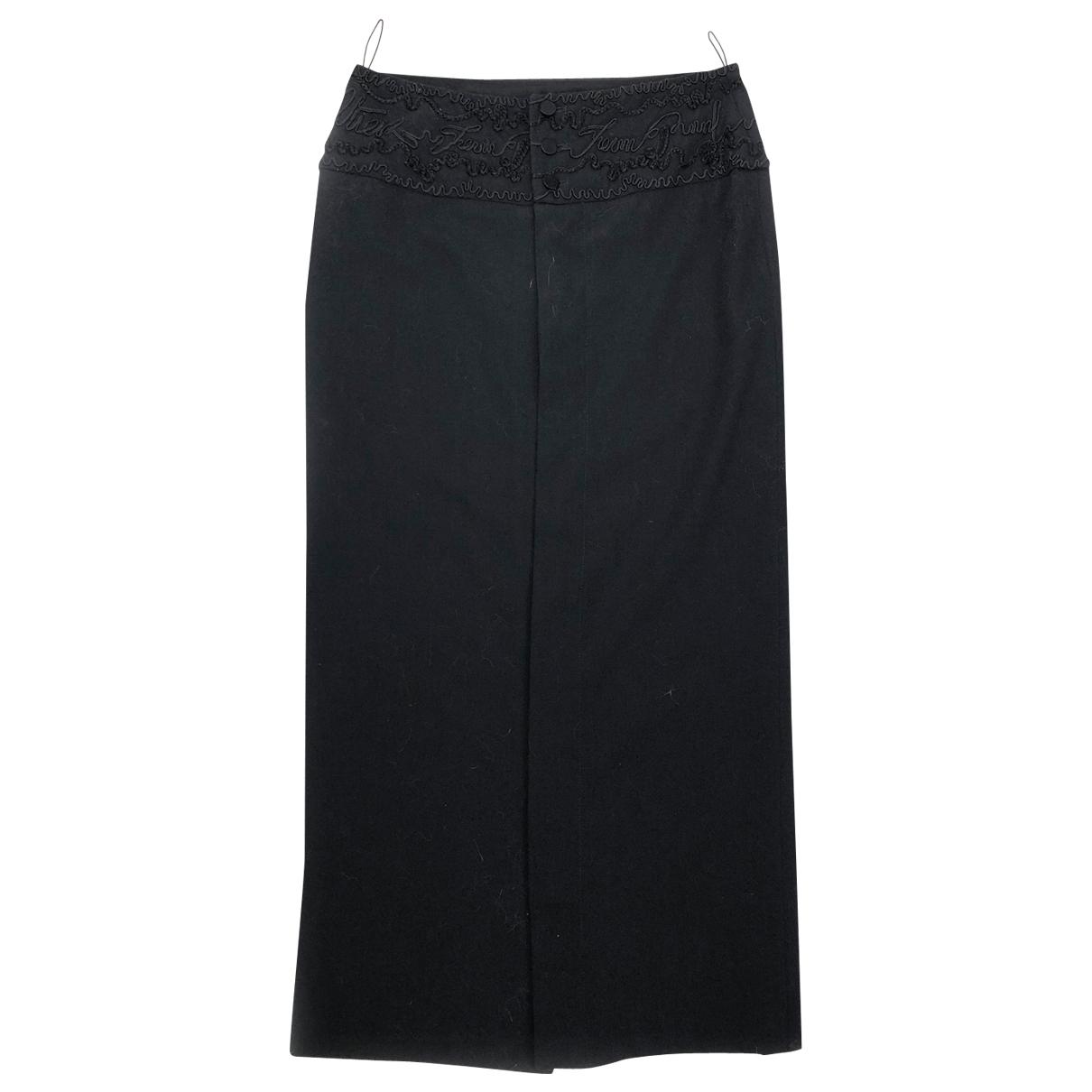 Jean Paul Gaultier \N Black Wool skirt for Women 38 FR
