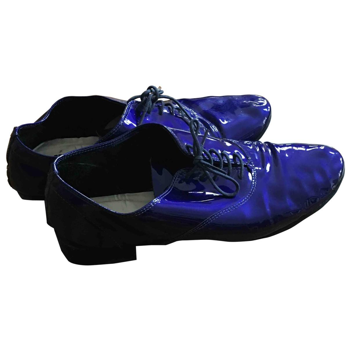 Repetto - Derbies   pour femme en cuir verni - bleu