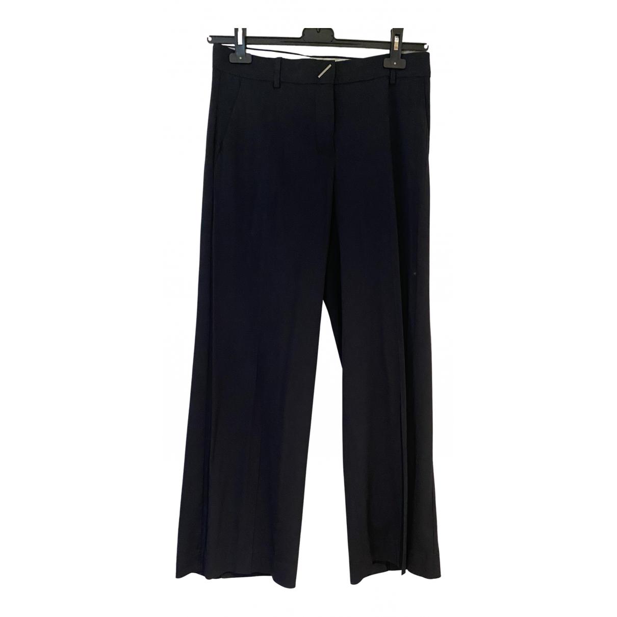 Sport Max N Blue Trousers for Women 42 IT