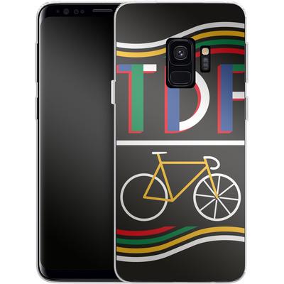 Samsung Galaxy S9 Silikon Handyhuelle - TDF Bike von Le Tour de France