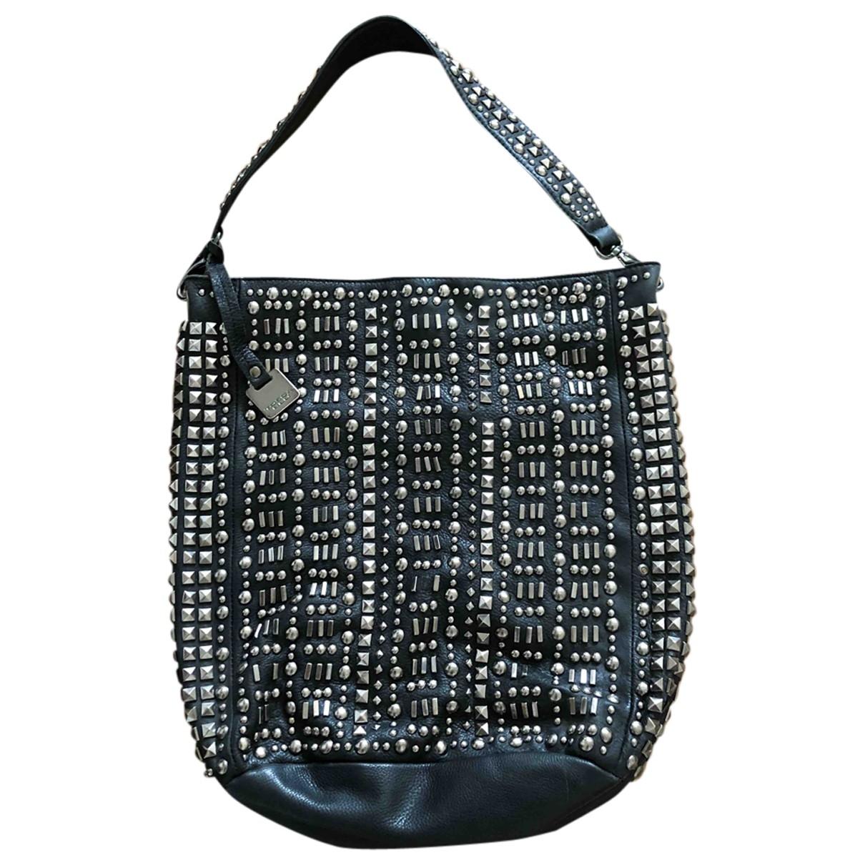 Tosca Blu \N Handtasche in  Schwarz Leder