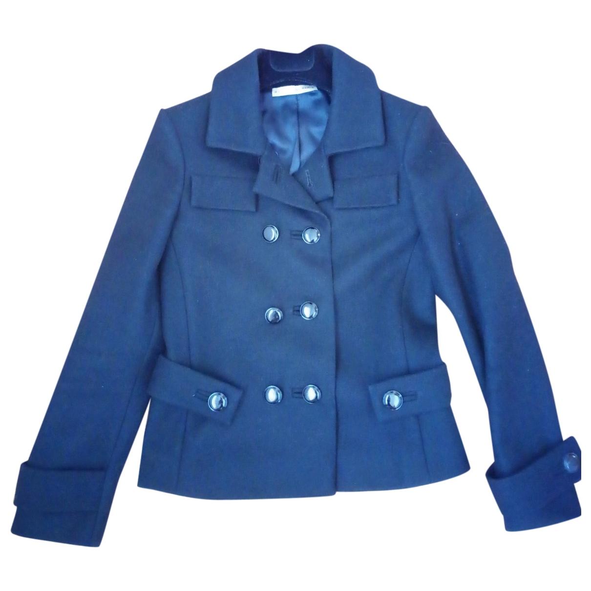 Balenciaga - Manteau   pour femme en laine - noir